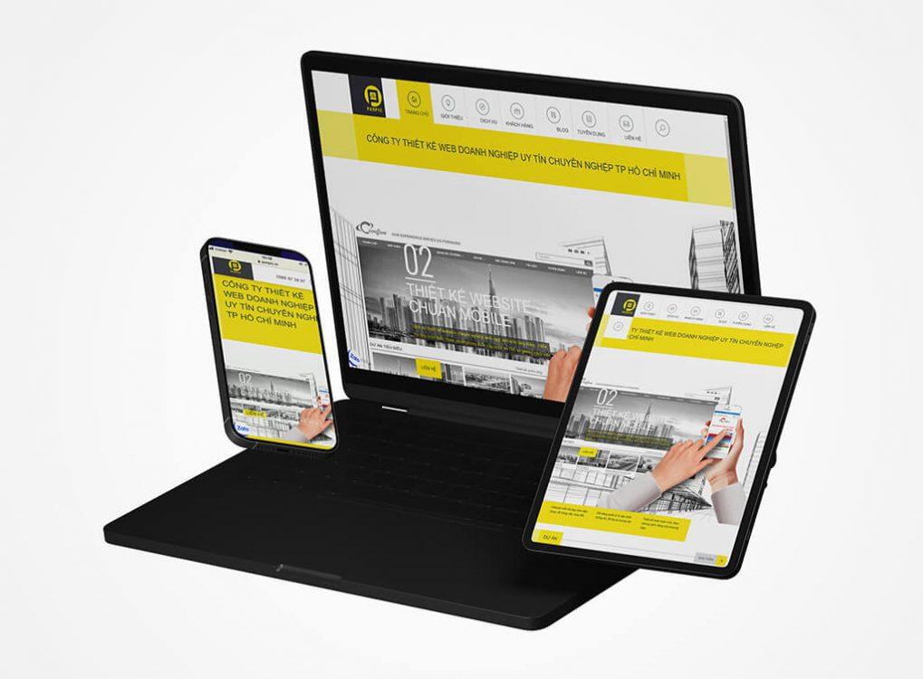 Thiết kế web Panpic màn hình điệnt hoại
