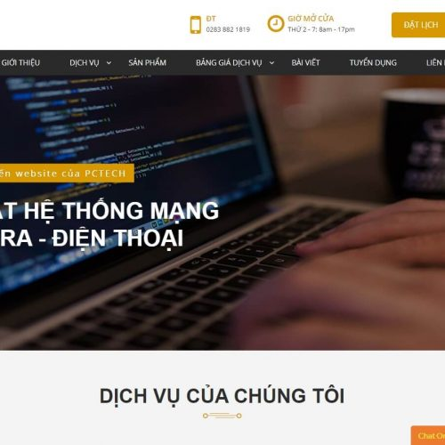 Thiết kế website công ty PCTECH