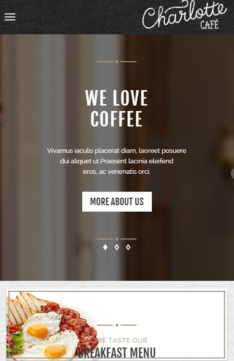 thiet ke web quan cafe
