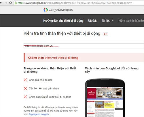 website no friendly