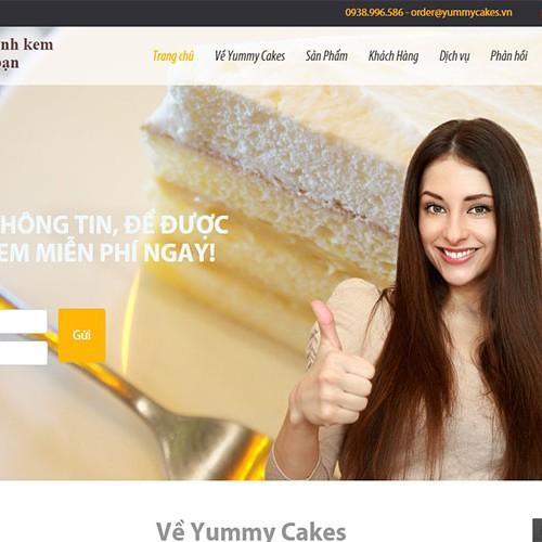 thiet ke web yummy cakes