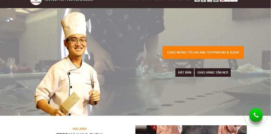 thiet ke web haianh sushi