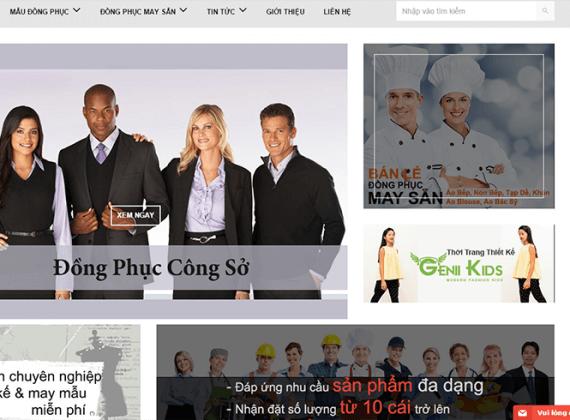 thiet ke web dong phuc may mac