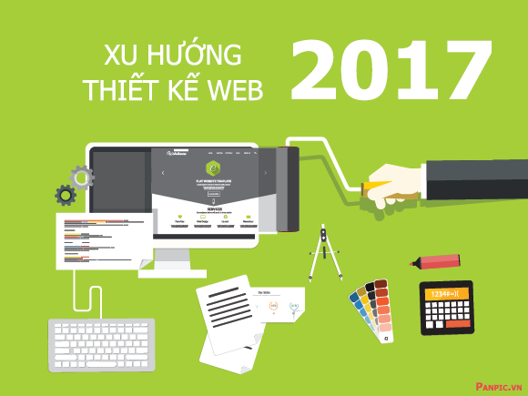 xu huong thiet ke web 2017
