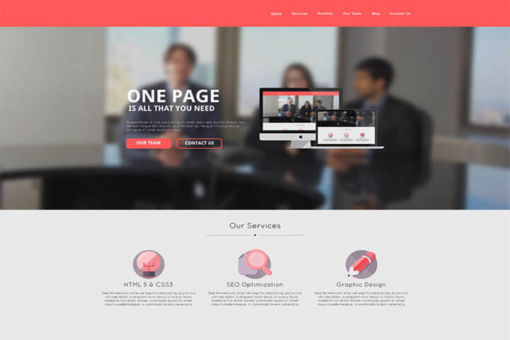 Mẫu template website doanh nghiệp