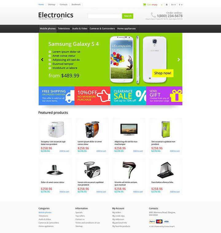 thiết kế web bán thiết bị điện
