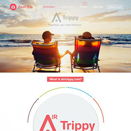 thiet ke web ung dung airtrippy