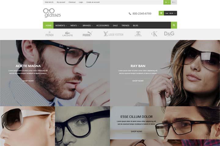 thiết kế web bán mắt kính