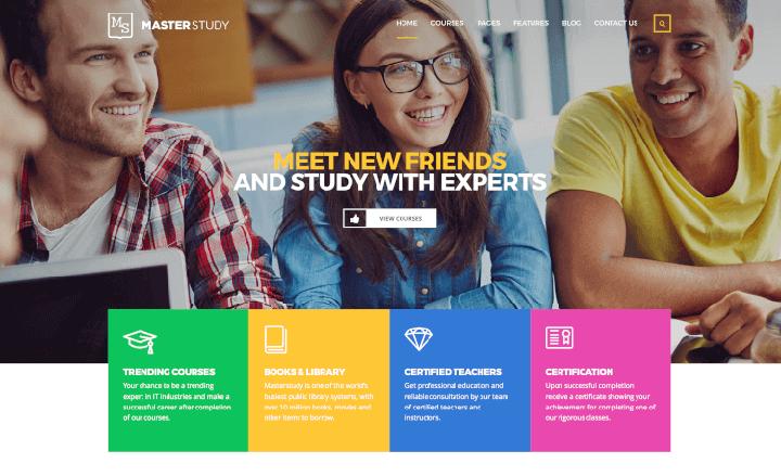 làm website trung tâm giáo dục