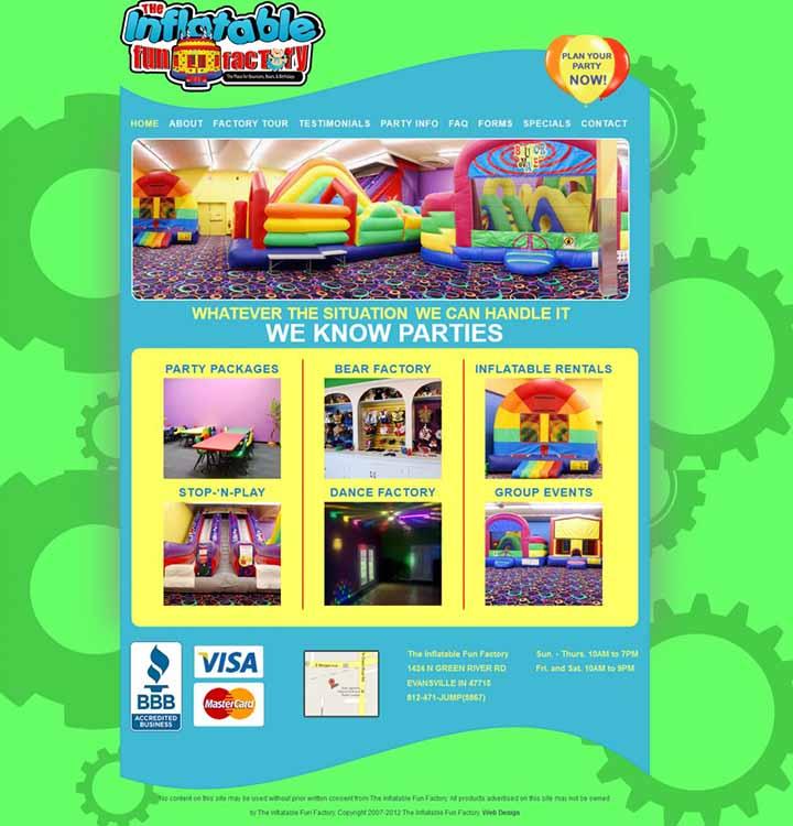 thiết kế web trung tâm vui chơi giải trí