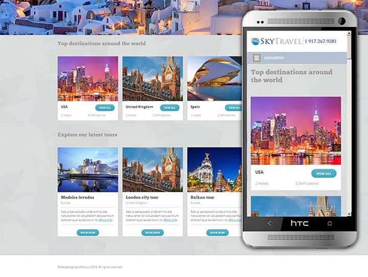 thiết kế web công ty du lịch lữ hành