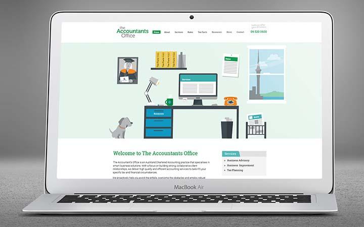 thiết kế web dịch vụ kế toán