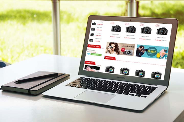 thiết kế web bán camera