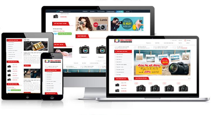 dịch vụ thiết kế web bán camera