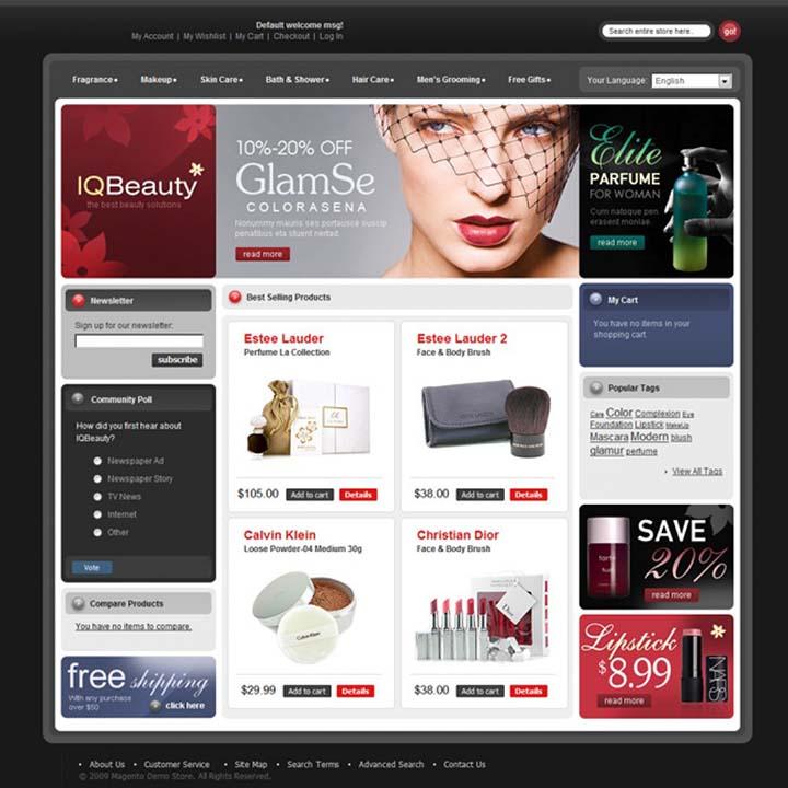 làm website bán mỹ phẩm