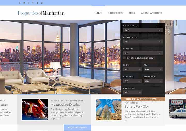 thiết kế web công ty địa ốc