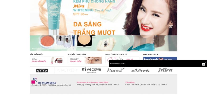 thiết kế web bán mỹ phẩm