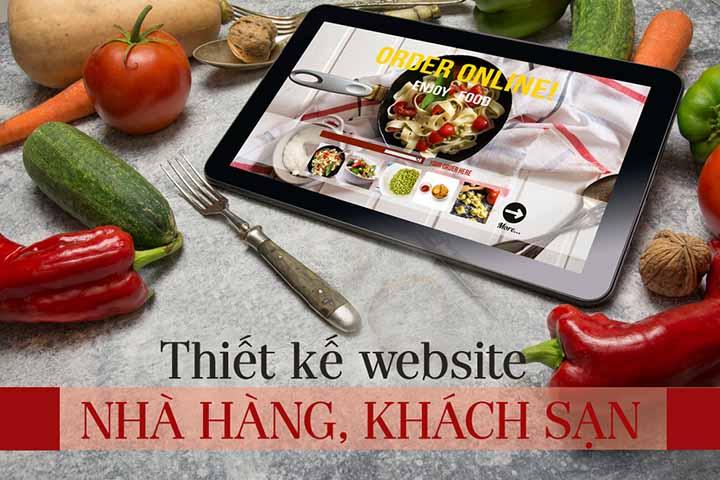thiết kế web nhà hàng khách sạn