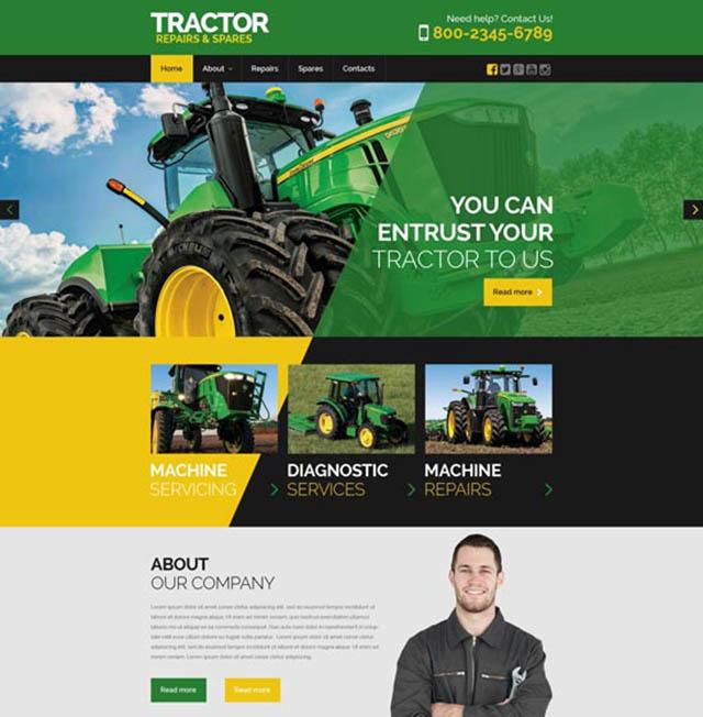 thiết kế website bán máy móc công nghiệp