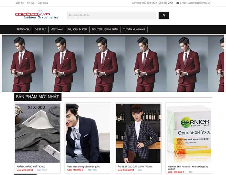 thiết kế web bán hàng thời trang công sở
