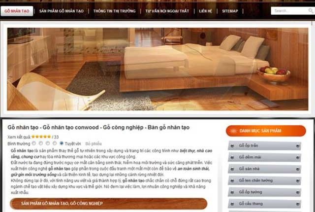 thiết kế web công ty gỗ