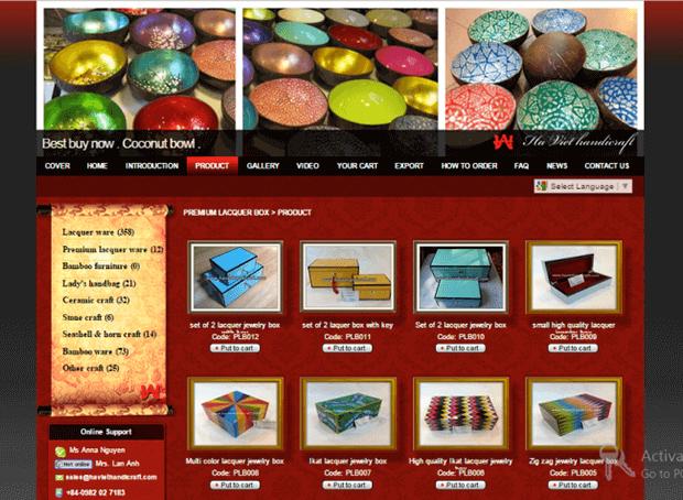 thiết kế web bán đồ thủ công mỹ nghệ