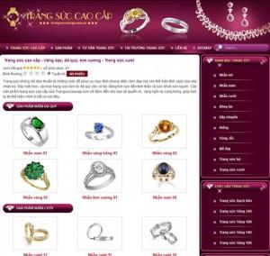 thiết kế web bán nữ trang