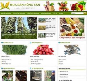 thiết kế web bán nông sản sạch
