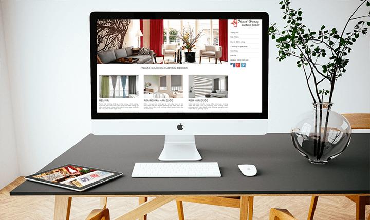 thiết kế website bán rèm cửa, màn cửa