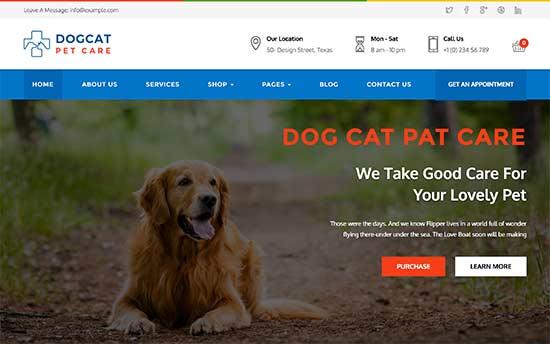 làm website thú cưng