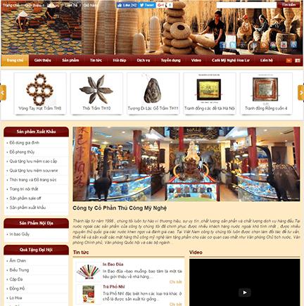 thiết kế website bán đồ gỗ mỹ nghệ