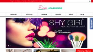 thiết kế web mỹ phẩm
