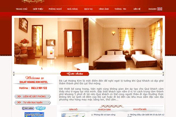 thiết kế web hotel book phòng