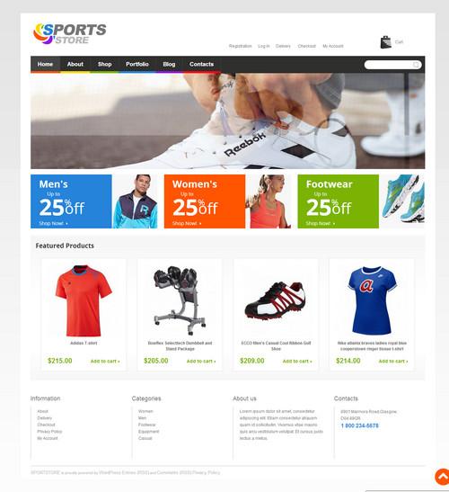 thiết kế web đồ thể thao