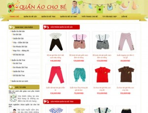 thiết kế web bán hàng mẹ và bé