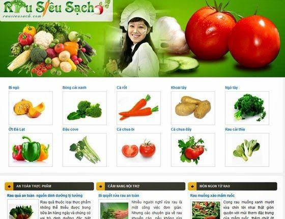 thiết kế website bán sản phẩm nông nghiệp