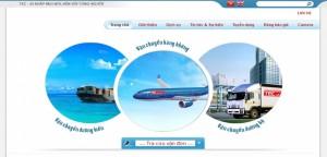 thiết kế web công ty chuyển phát nhanh