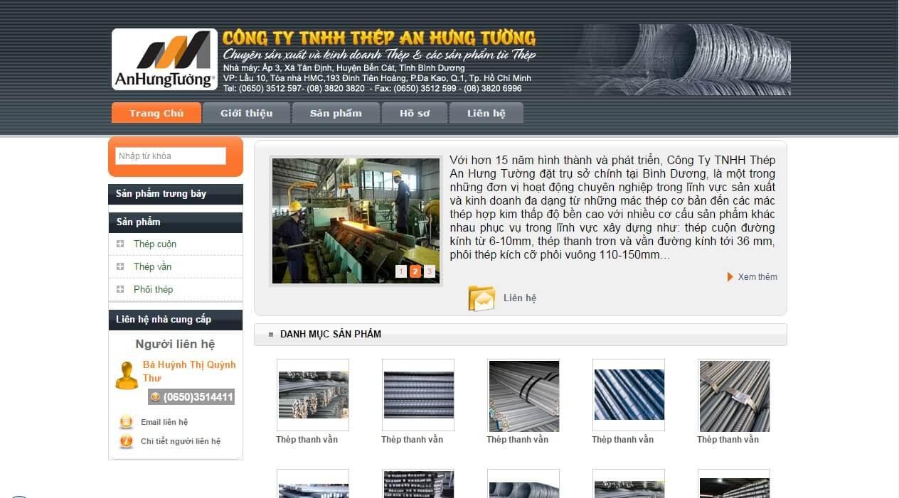 thiết kế web công ty thép inox