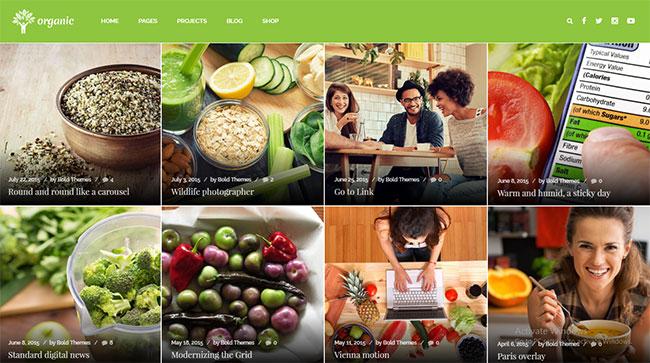 thiết kế web công ty thực phẩm sạch