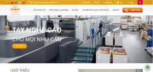 thiết kế website công ty xuất nhập khẩu