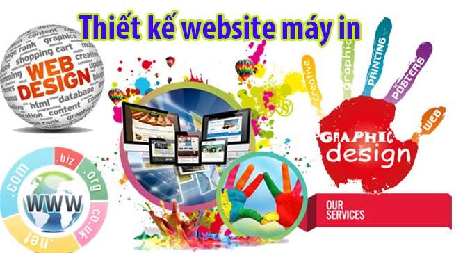 thiết kế web công ty bán máy in