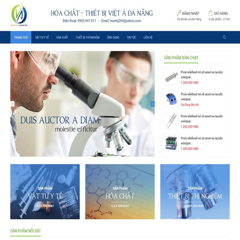 thiết kế web công ty hóa chất