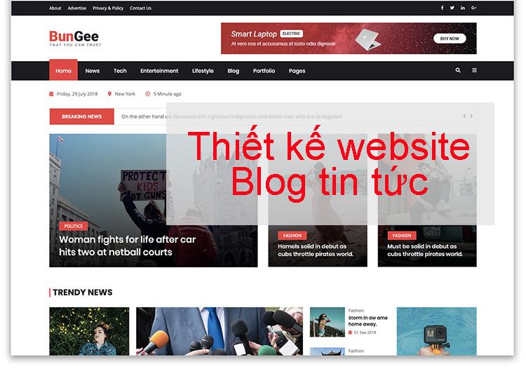 Thiết kế website blog tin tức