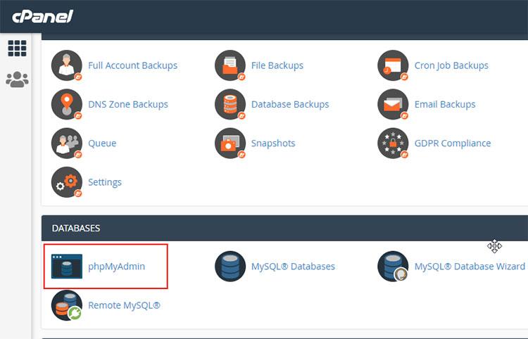 Hướng dẫn backup database mysql website