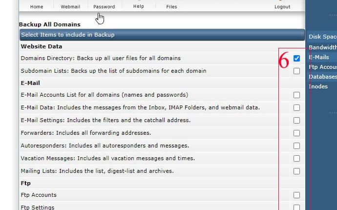 Hướng dẫn backup website server VPS Direct Admin