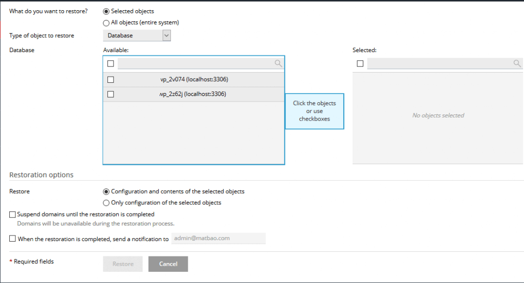 Backup web trên plesk panel như thế nào