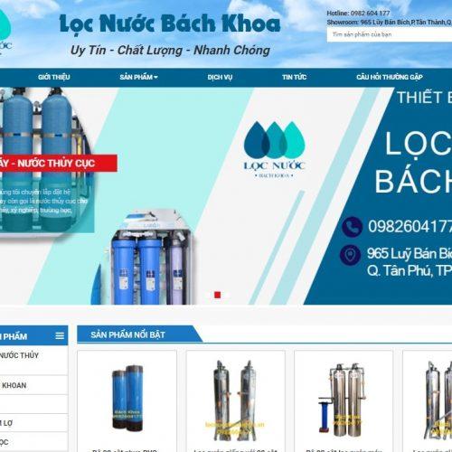 Panpic thiết kế website Lọc Nước Bách Khoa