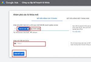 Công cụ lập kế hoạch từ khóa google ads