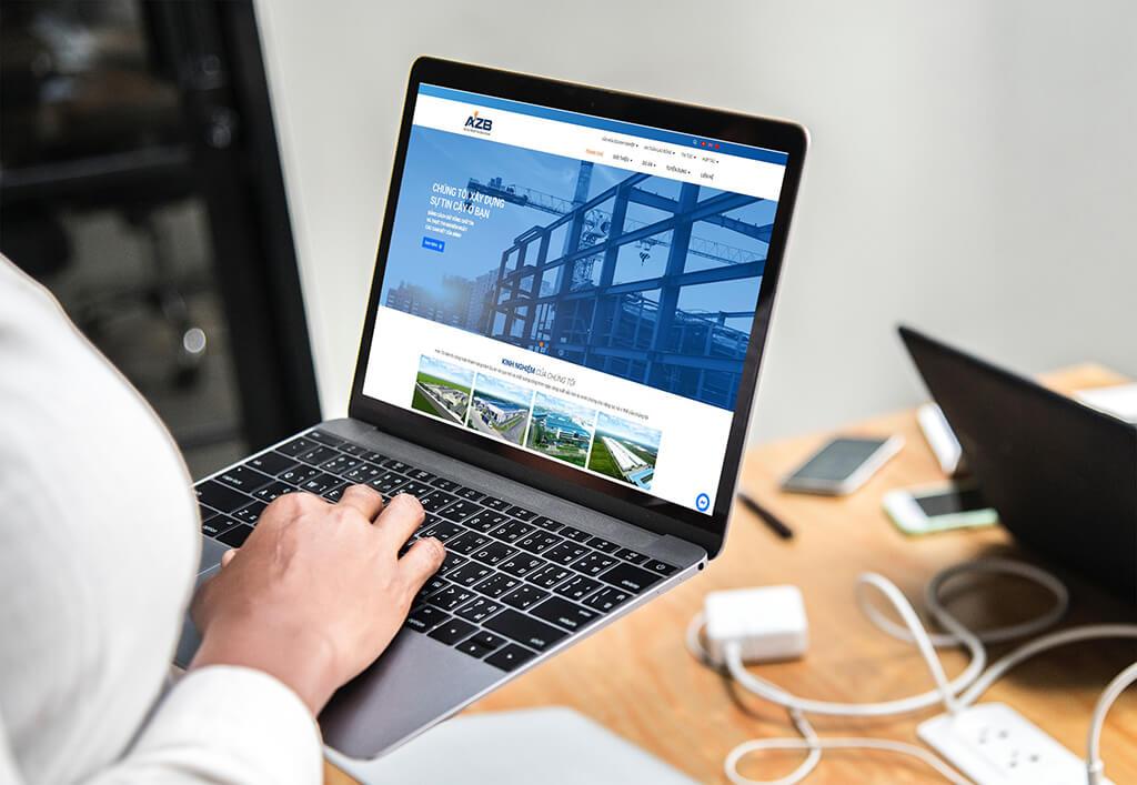 Thiết kế web công ty xây dựng AZB