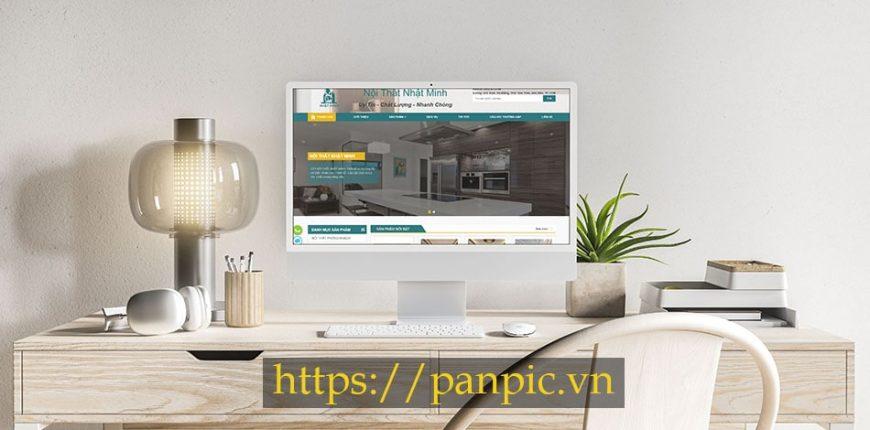Panpic thiết kế web công ty nội thất